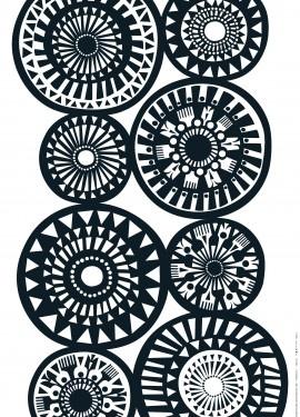 black & white pattern designed by Sanna Annukka for Marimekko.