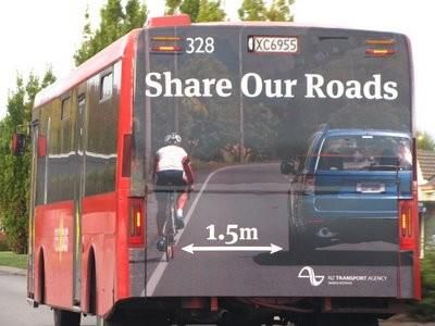 Friendly Kiwi Bus Advertising from the New Zealand Transport Agency