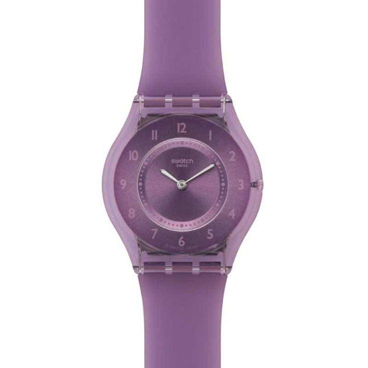 Swatch SFV107 Women's Skin Swiss Made Light Purple Plastic Strap Watch