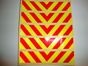 5-REFLECTIVE-CHEVRON-TRUCKS-LORRIES-VANS-BIKES-BUS-VOLVO-SCANIA-MERCEDES-POLICE