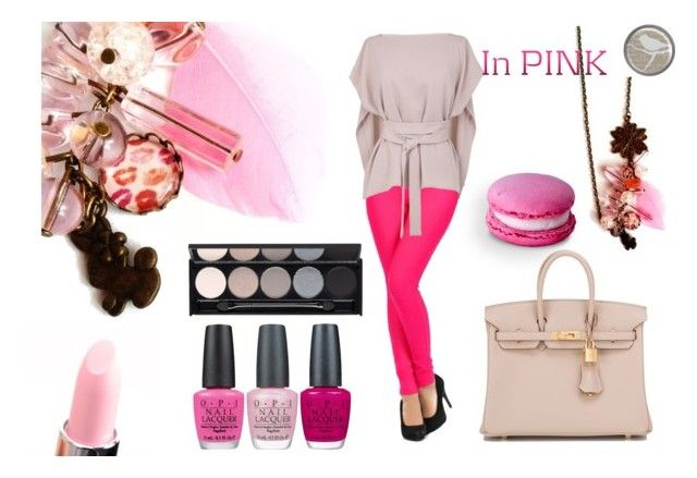 """""""pink"""" by hemos on Polyvore featuring TIBI, Hermès, Witchery and OPI"""