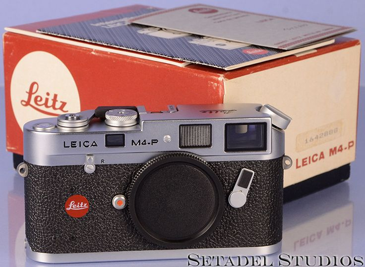 Leica Leitz M4-P Chrome Rangefinder Camera Body w/ Box '888' Serial Number Mint