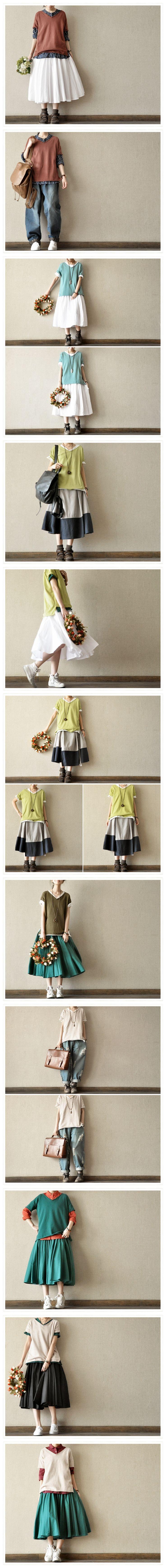 Three Colours Knitwear T-shirt Cotton Top Summer Blouse Women Clothes by Fantasylinen