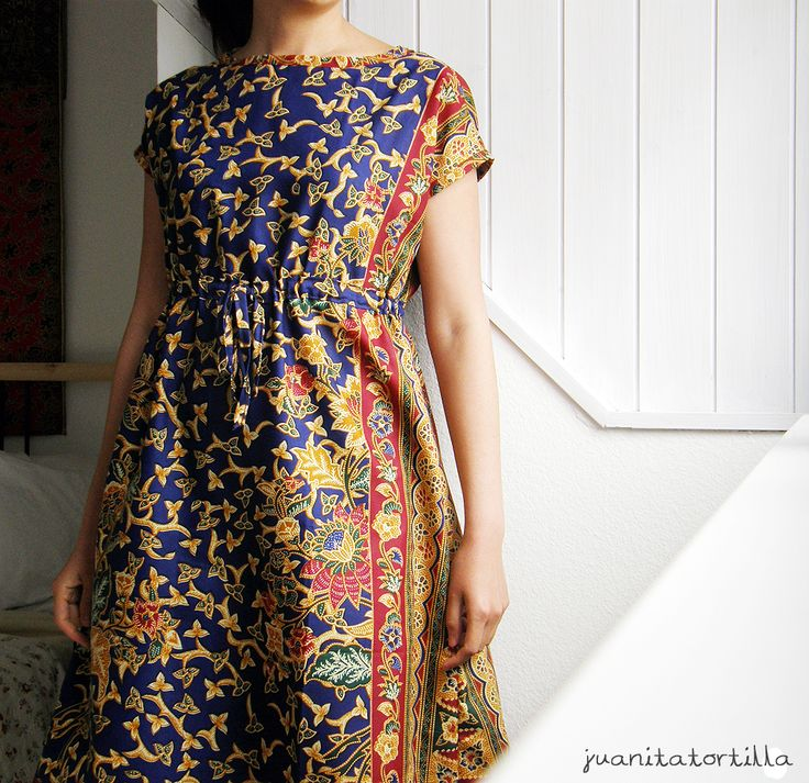 Batik Anda -- my very first dress