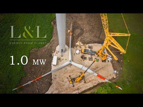 L&L 1.0 MW WIND TURBINE in Pontelandolfo (Italy) - YouTube