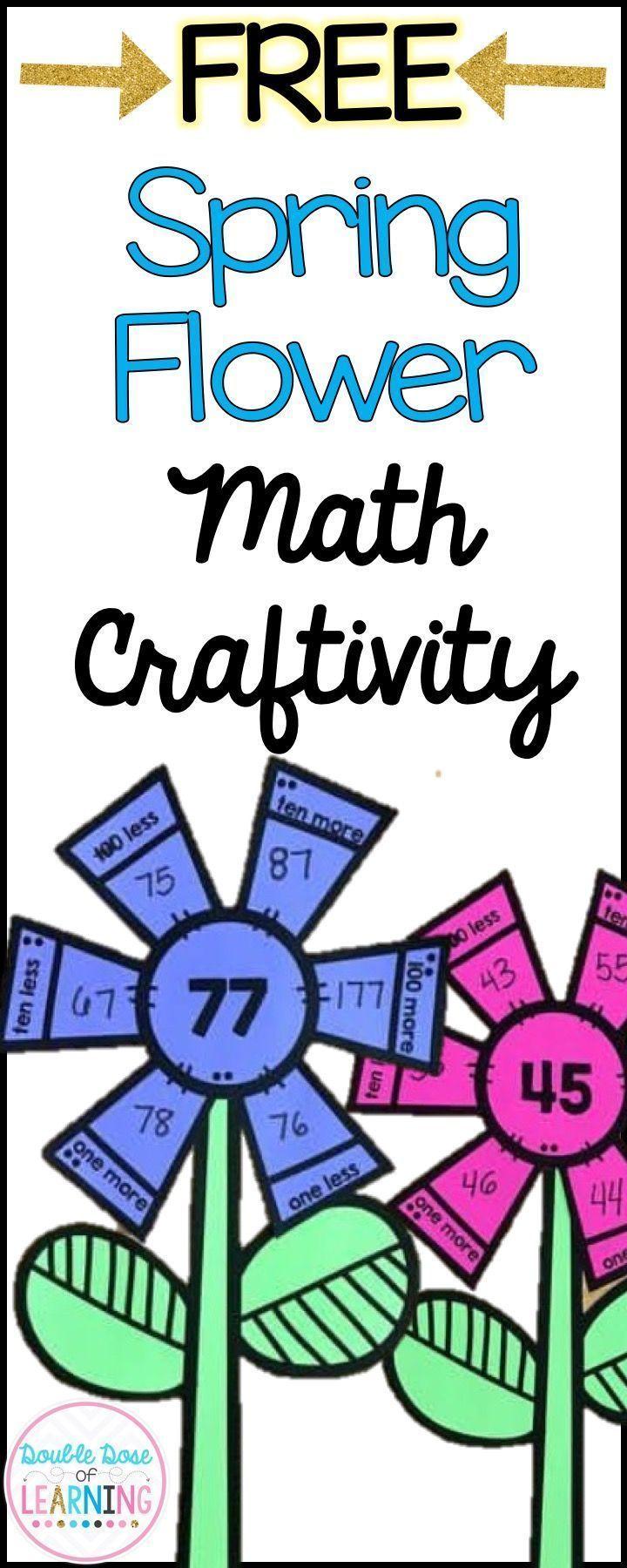 Spring Math Crafts For First Grade Spring Math Math Crafts First Grade Math [ 1800 x 720 Pixel ]