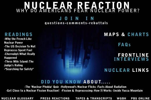 Nuclear Reaction | FRONTLINE | PBS