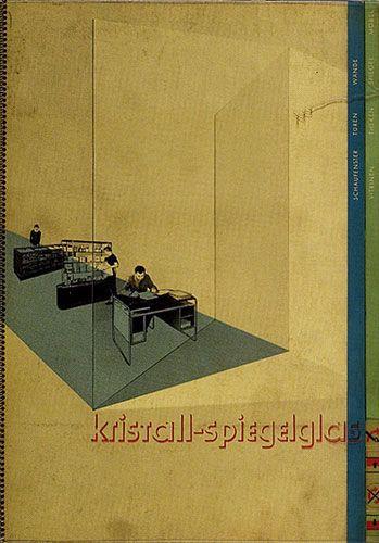 "Will Burtin: Design and Science Kristall-spiegelglas (""Crystal-mirror glass""), 1920s"
