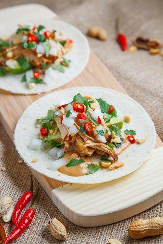 Spicy Peanut Chicken Tacos | Recipe | Peanut Chicken, Chicken Tacos ...