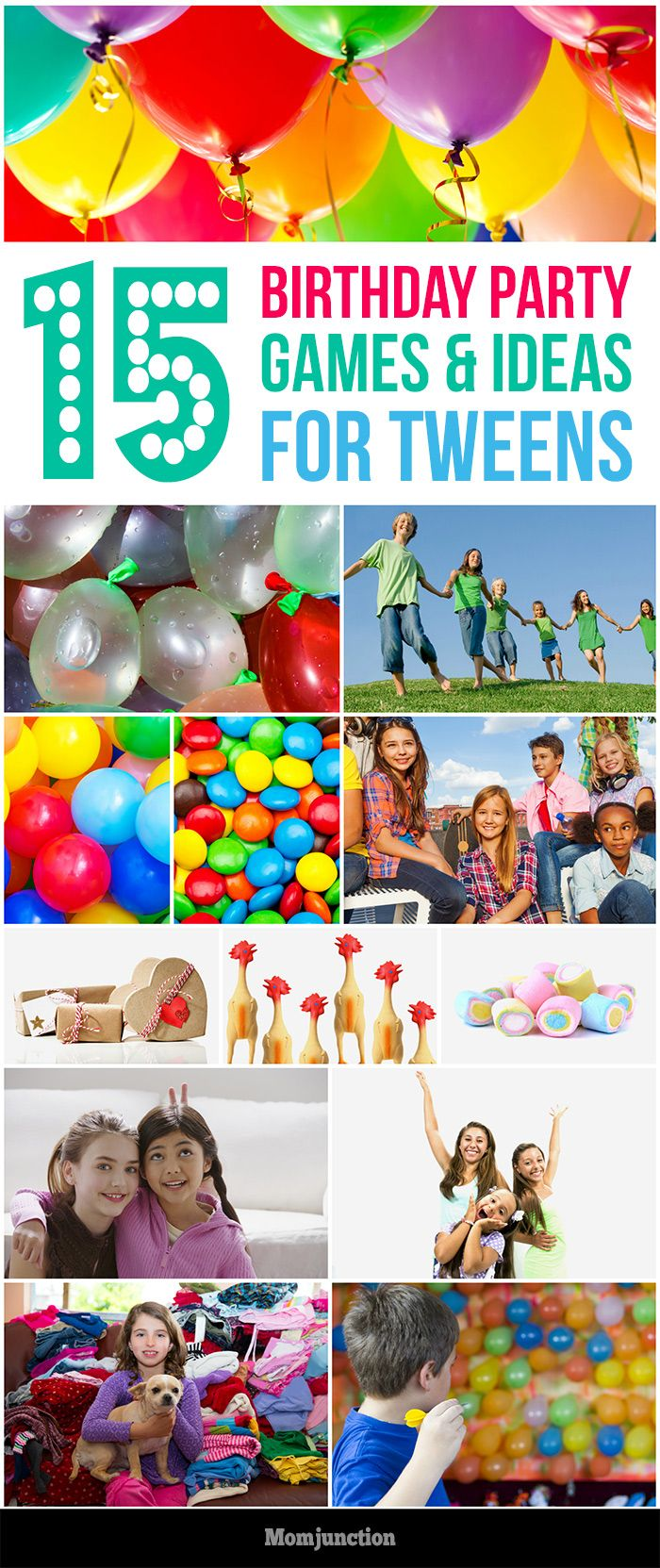 Top 15 Birthday Party Games & Ideas For Tweens: We've compiled a list of 15 games and activities that will be a sure shot hit with your tween and their friends!