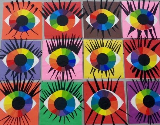 Mrs. Pearce's Art Room : Eyeballs color wheel