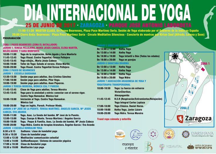 Día Internacional de Yoga en Zaragoza http://almayogavida.com/dia-internacional-de-yoga-en-zaragoza/ El día 25 de junio se celebra el Día Internacional de Yoga en Zaragoza, en el Parque Grande.  Profesores y profesoras de varias escuelas de yoga de Zaragoza darán clases para cualquier persona que quiera probar yoga.  Los que son practicantes de yoga tienen una bonita ocasión de conocer otras maneras de impartir una clase de yoga.  Existen muchas metodologías, enfoques y planteamientos de una…