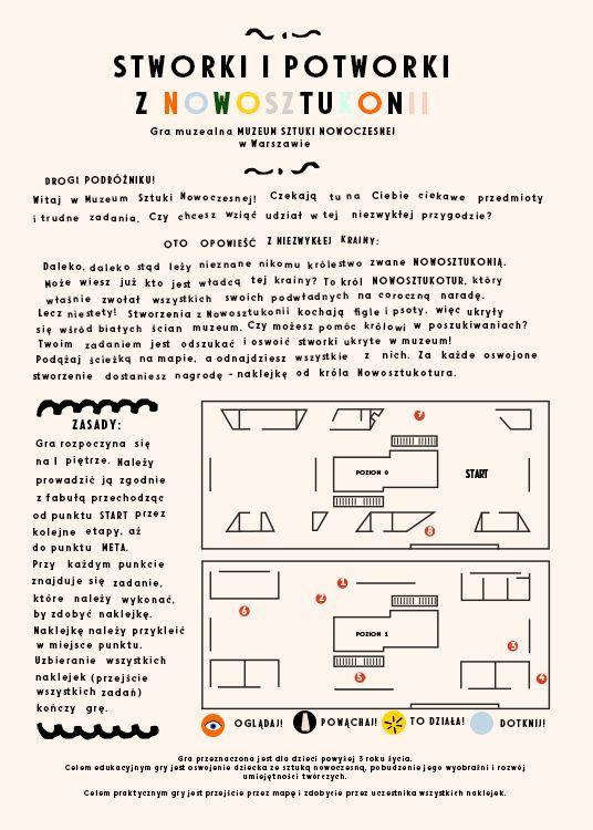 My game for MoMA Warsaw - front, project: Michalina Rolnik / Moja gra dla MSN w Warszawie, projekt: Michalina Rolnik