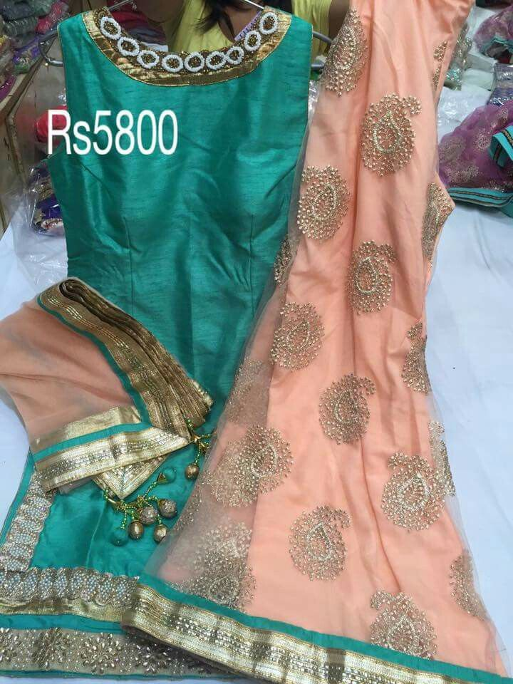 Silk sharara suit
