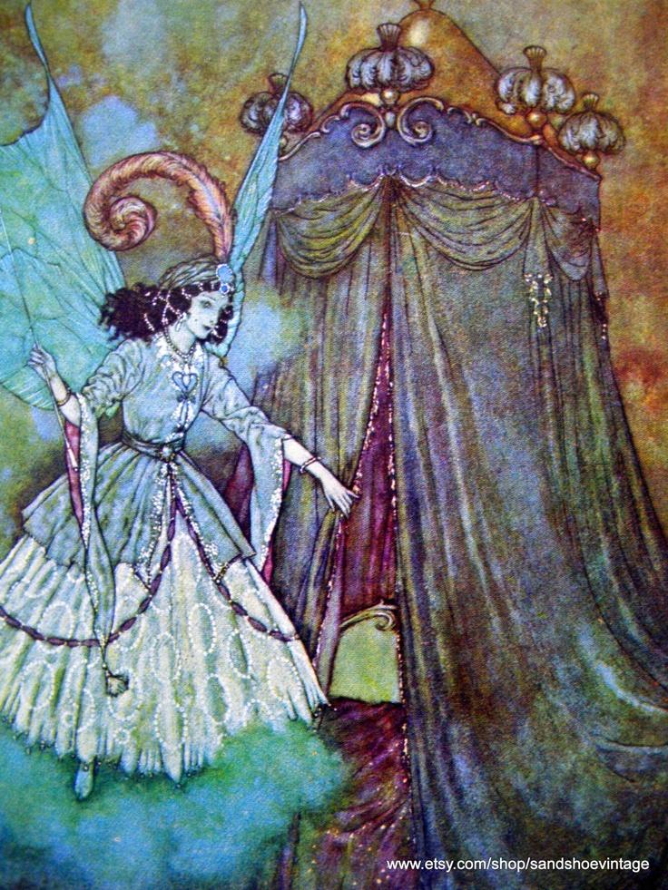 Fairy Edmund DULAC PRE-RAPHAELITE Double Sided Color Print