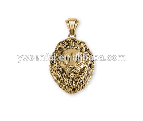 Alibaba website wholesale new lion desgin charms, alloy antique gold plated engraved lion head charms