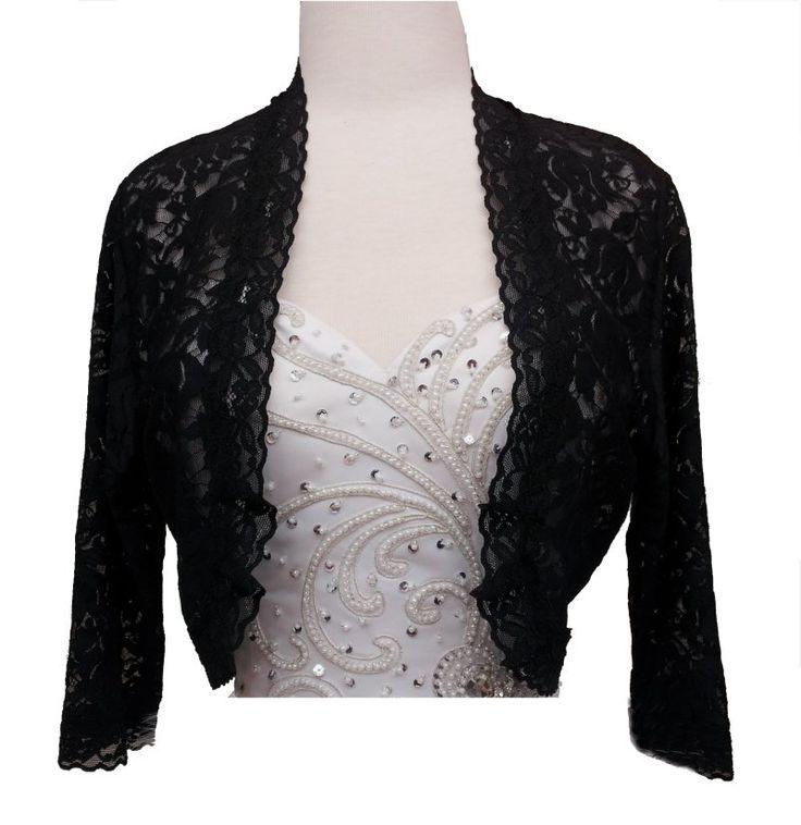 1000 images about lace bolero jackets on pinterest for Black lace jacket for wedding dress