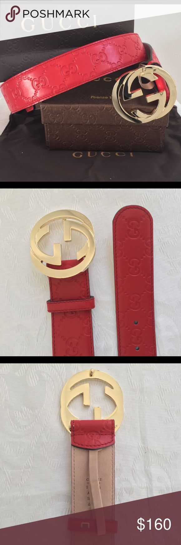 💥 Men's new Gucci belt NWT men's Gucci belt Comes with dust bag and box Great belt!  Brand new! Never worn!  No trades please! Gucci Accessories Belts