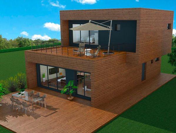 maison ossature bois tarif beautiful ossature bois cap ferret bassin du arcachon architecte. Black Bedroom Furniture Sets. Home Design Ideas
