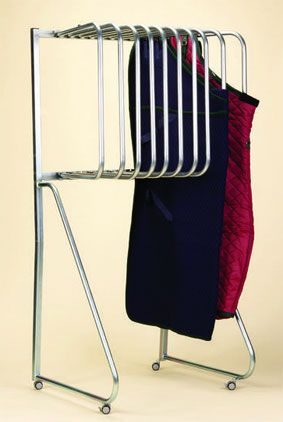 Cool blanket rack!