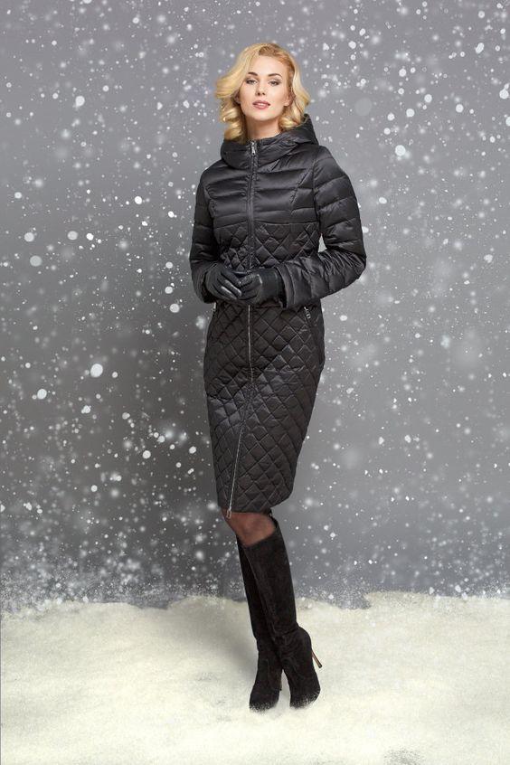 15496feed85 Пуховик женский Naumi WF15 057 черный купить недорого в интернет магазине