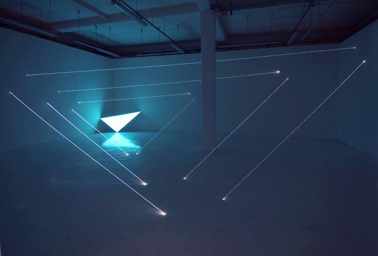 Fibre optics installations by Carlo Bernardini,