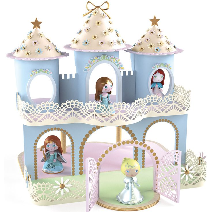 Djeco+Arty+Toys++-++Ze+Princesses+Castle+-+Djeco+Arty+Toys+Ze+Princesses+Castle+is+the+centerpiece+of+the+Djeco+Princess+Arty+Toys+range.+At+35.5+x+36.5+x+37.5+cm+it+is+a+generous+size+to+accommodate+the+figurines+from+the+range+and+is+made+from+wood.+Beautifully+painted+in+pastel+colours+it+is+decorated+with+dainty+flowers. Figures+not+included. There+are+four+themed+collections+of+Djeco+Arty+Toys;super+heroes,+pirates,+knights+and+princesses+and+all+are+movable+with+join...