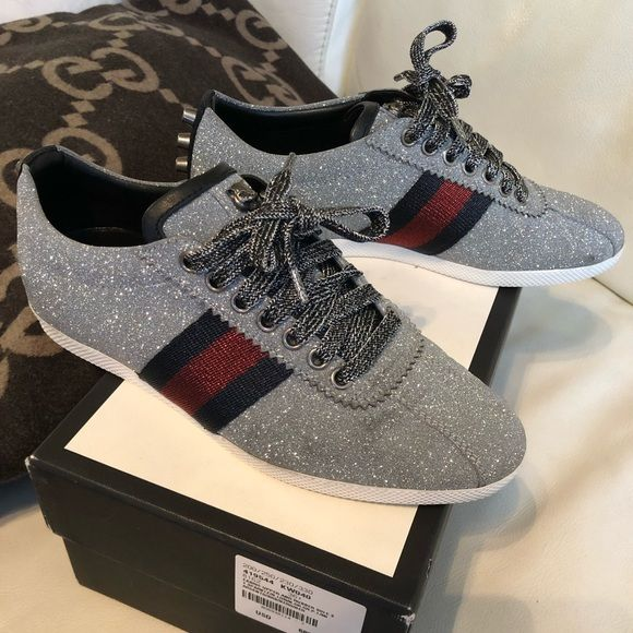 ba2ae91cd 100% Authentic Gucci sneakers Sparkle Gucci sneakers. This sneakers are  absolutely beautiful. Wore