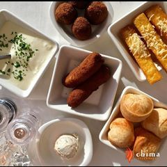 Brazilian Hospitality. Our Signature Side Dishes are served to all Chima diners.  Creamy mashed potatoes, Fried Polenta, Fried Bananas, Cheese Bread, Turkey Spread and Beef Croquettes. #SideDishes #Hospitality #BrazilianFood  #Steakhouse #Beef #Brazilian #Chima #Delicious #Dining #Dinner #Food #Yummy #Foodie #Healthy #Meat #PA #Philadelphia #Philly #PHL #Restaurant #Rodizio #Salad #SaladBar #Steak #MashedPotato #Polenta #Bananas #Croquettes #SideDishes