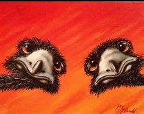 Image result for emu paintings in the outback