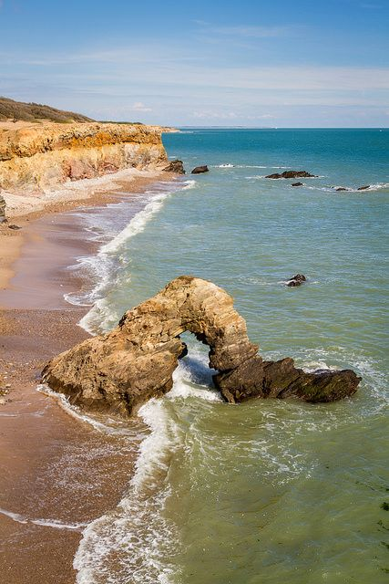 Promenade sur les falaises de Jard sur Mer en Vendée, au mois de Mai., France