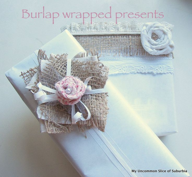 burlap wrapped presents (2)