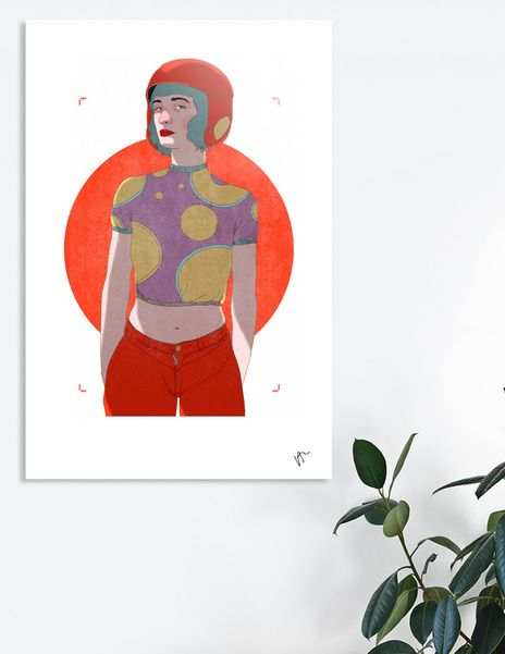 Discover «WOMAN-CURIOOS», Limited Edition Aluminum Print by VICTOR ABARCA LIZANA - From $99 - Curioos