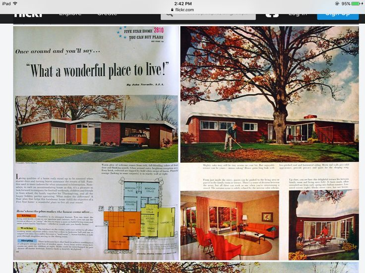 Pin by Sue Rutherford on Mid Century Floor Plans How to