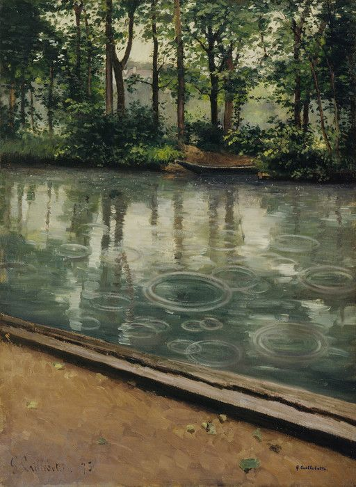 The Yerres Rain by Gustave Caillebotte | Art Posters