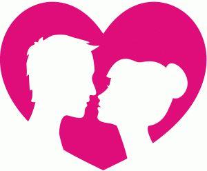 Silhouette Design Store - View Design #67946: couple in love