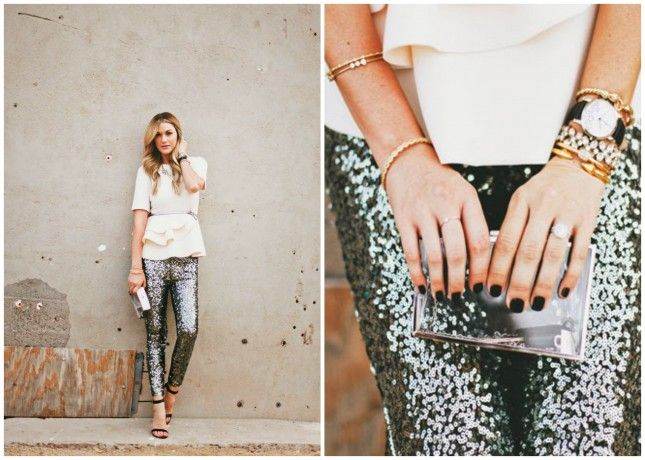 Rock these sequin pants at any formal occasion.