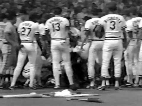 The Greatest Baseball Fight in Cardinals History. This game occurred on July 22, 1986. The events we see here happened in the bottom of the seventh inning at Busch Stadium. St. Louis won the game, 10-7.