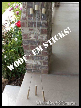 Woof 'em Sticks: Material specks are from Lowe's