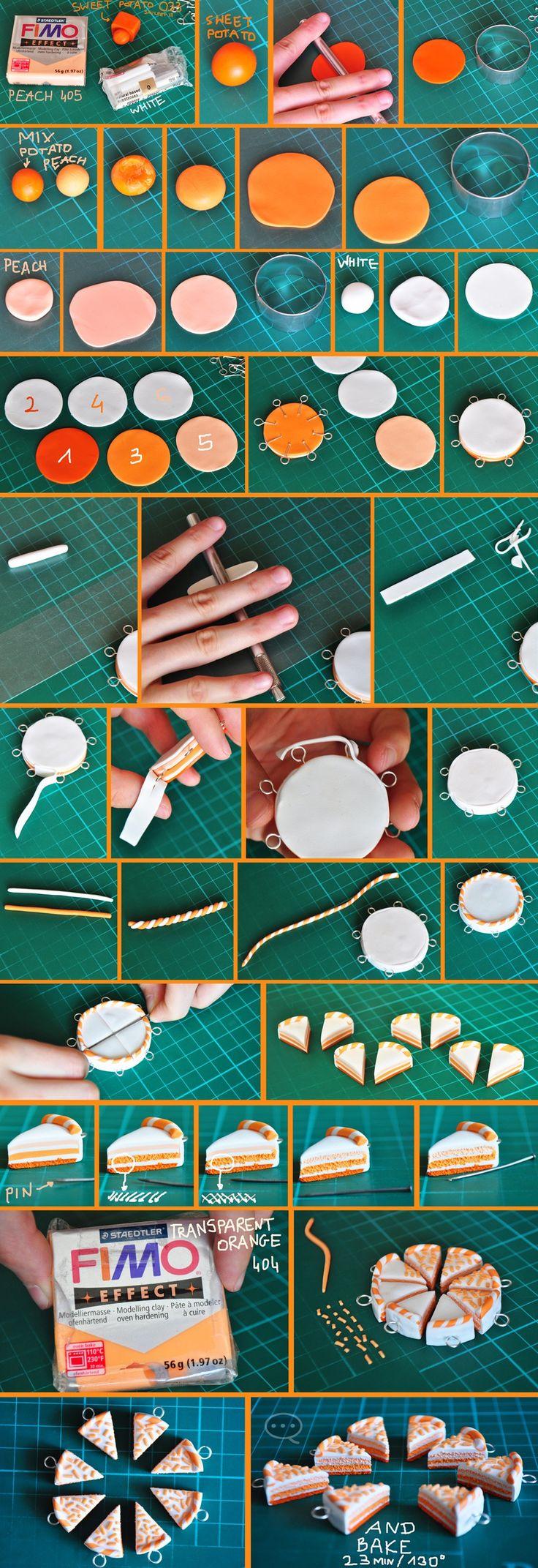 clay orange cake tutorial by cihutka123 on deviantART