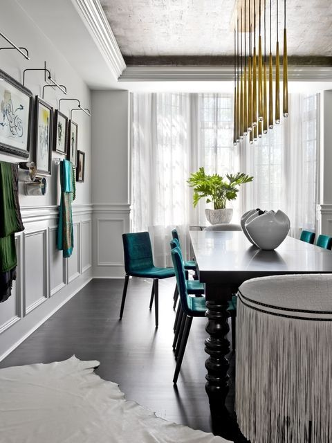 Glam Meets Grit Inside A Suburban Chicago Home PROjECT Interiors Kept The Traditional Bones But