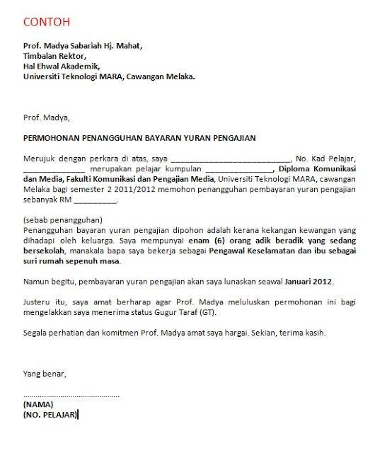 Contoh Surat Kiriman Rasmi Wakil - Contoh Yuk