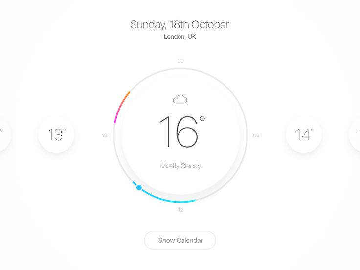 For a long time I never really understood why these sort of apps/widgets didn't truly contextualise the weather in relation to a full day. You'd only ever get one statistic which would be a (someti...
