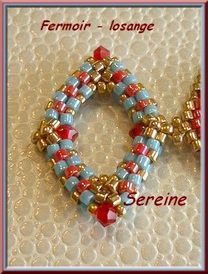 lovely clasp by SEREINE: Beads Clasp, Beads Tutorials, Peyote Diamonds, Beadwork, Diamonds Clasp, Beads Toggl, Clasp Diamonds, De Abalorio, 3D Peyote
