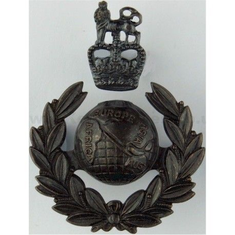 Royal Marines Officers 2-Part Queen's Crown. Bronze Officers' metal cap badge