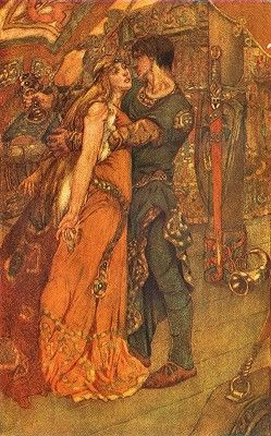 """""""Tristan and Iseult"""" by Noël Laura Nisbet (1887-1956)"""