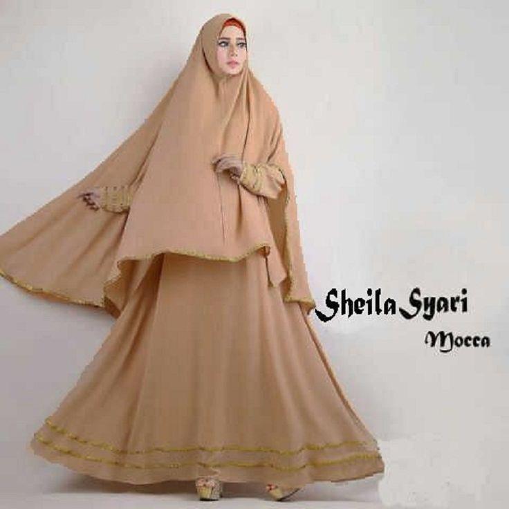 Gamis Syar'i Modern SHEILA MOCCA - http://warongmuslim.com/gamis-syari/gamis-syari-modern-sheila-mocca/