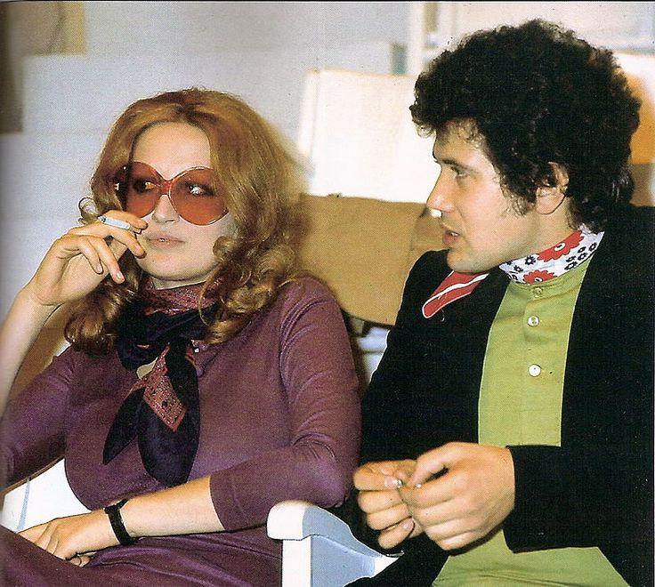 Mina e Lucio Battisti durante le prove a Teatro 10 (1972)