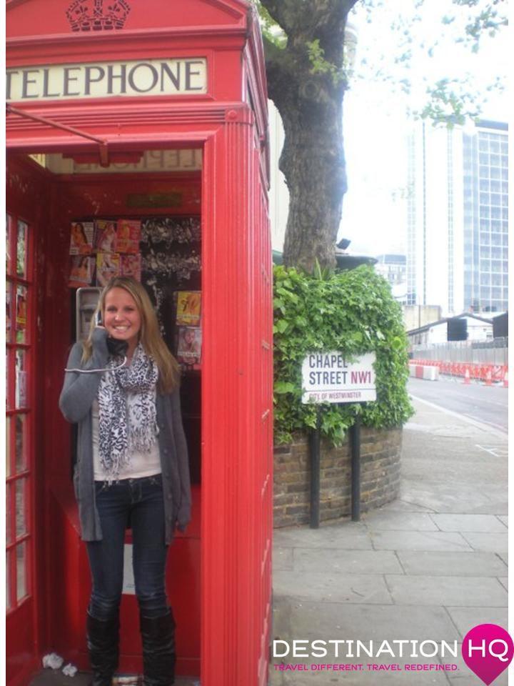 Fun in a London Phone Box