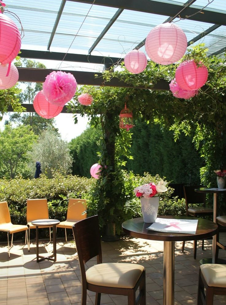 Pretty in Pink - Breast Cancer Council Fundraising event #pink #paper #lanterns